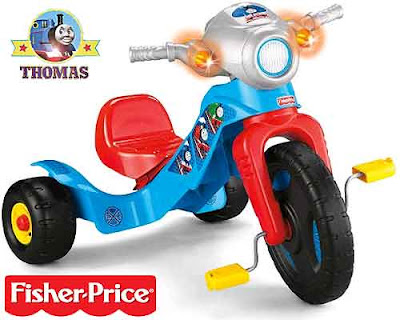 Toddlers and young children fisher Price Thomas the train trike ride recreational playtime activity