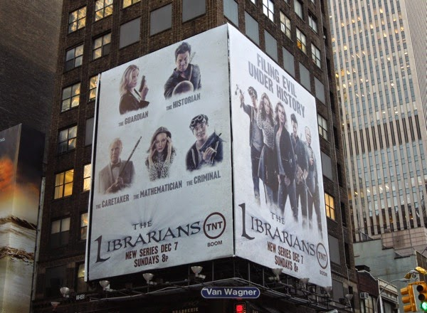 Librarians series launch billboard NYC