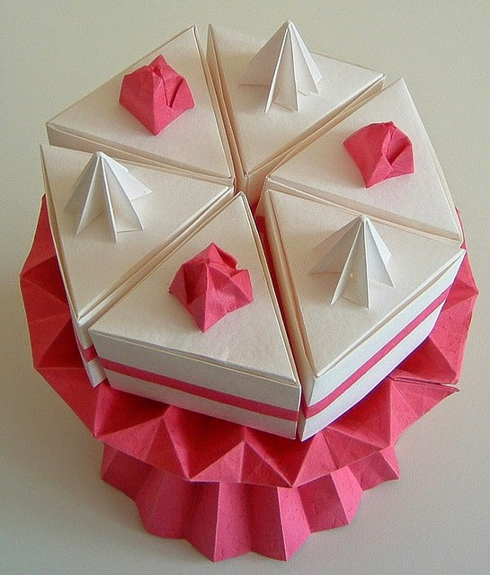 Make Origami Cake Origami Instructions Art And Craft Ideas