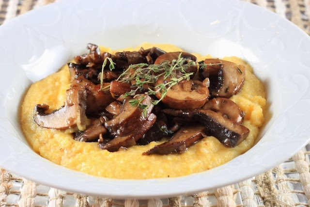 bookcooker: Sweet Tooth and Mushroom Ragout with Creamy Polenta