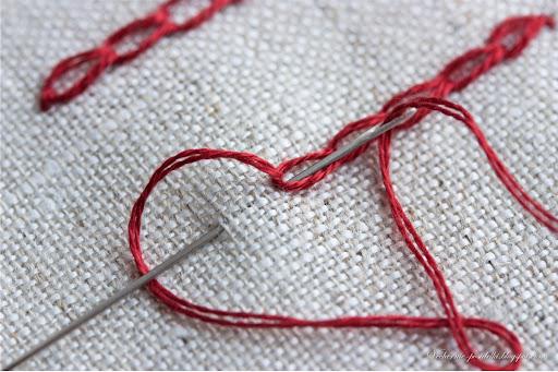Швы для контурной вышивки