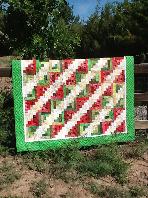 Tanya Quilts in CO: Scrappy Watermelon Picnic Quilt : watermelon quilt - Adamdwight.com