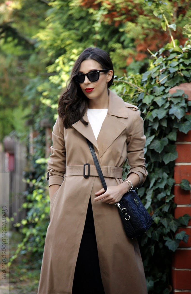 Zara long cotton trenchcoat