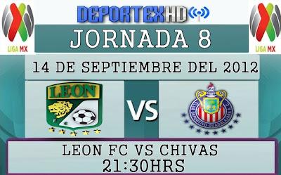 Ver Leon Fc vs Chivas Rayadas Del Guadalajara (Liga Mx) 14/09/12