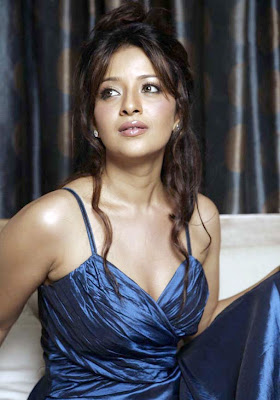 Reema Sen in Navy Blue Night Gown - Night Dresses Online