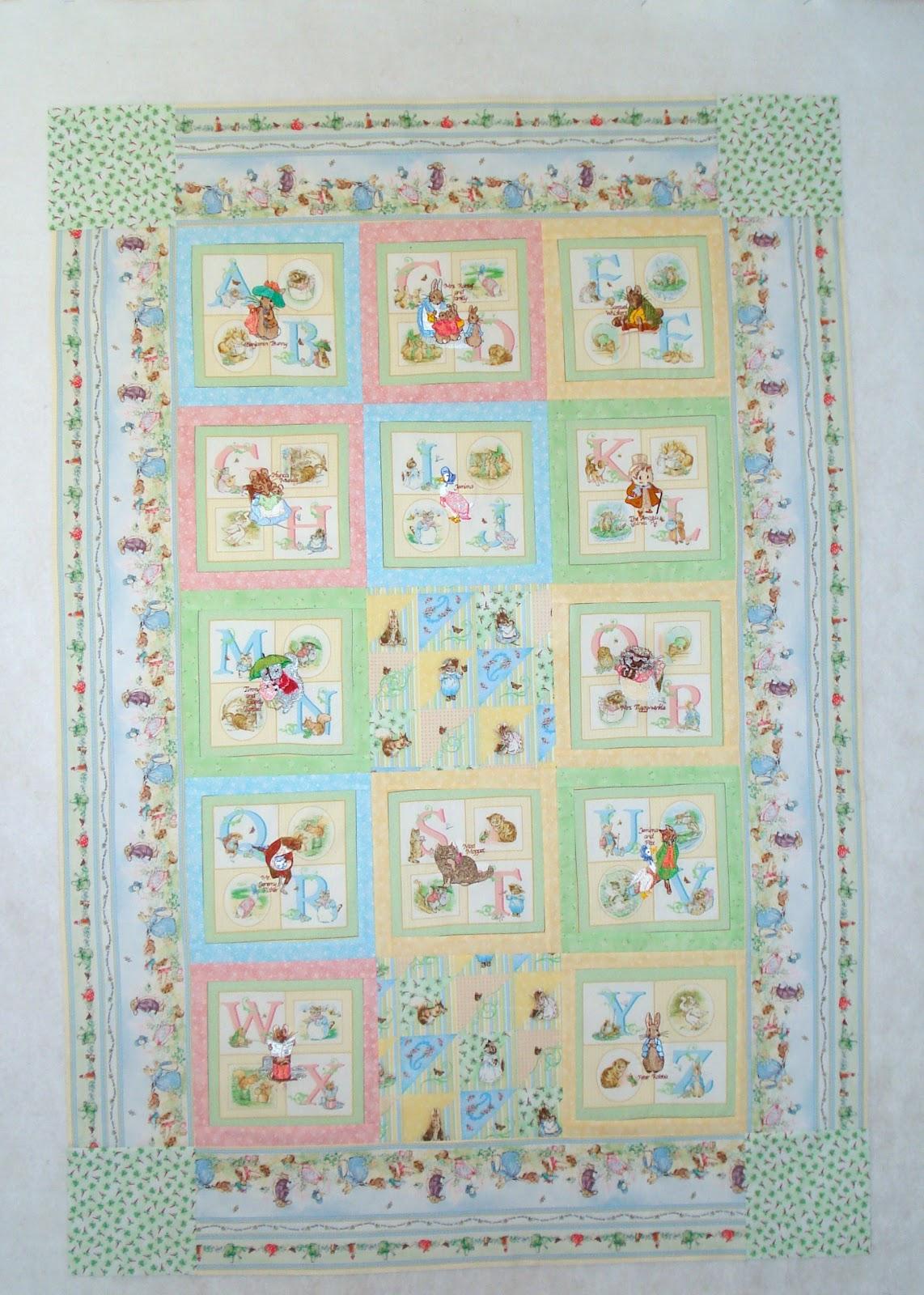 Dogwood Lane Rambles: A Baby Quilt But No Barn : peter rabbit baby quilt - Adamdwight.com