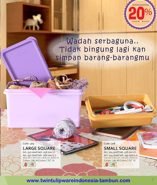 Promo Diskon Tulipware | Nopember - Desember 2015, Jumbo Lunch Box, Large Tea Set, Lunch Box