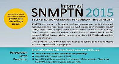 Pengumuman Hasil SNMPTN Tahun 2015 dan Pembukaan SBMPTN 2015