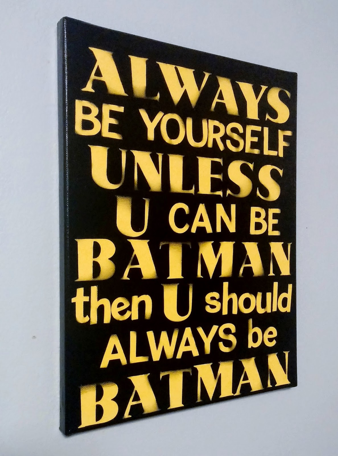 Coastal Mom Creations ALWAYS BE BATMAN Boys Canvas Wall Art
