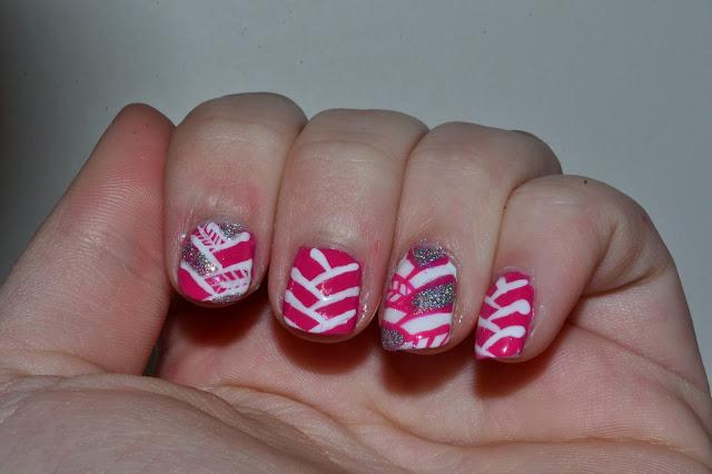 Herringbone Nail Art by Elins Nails