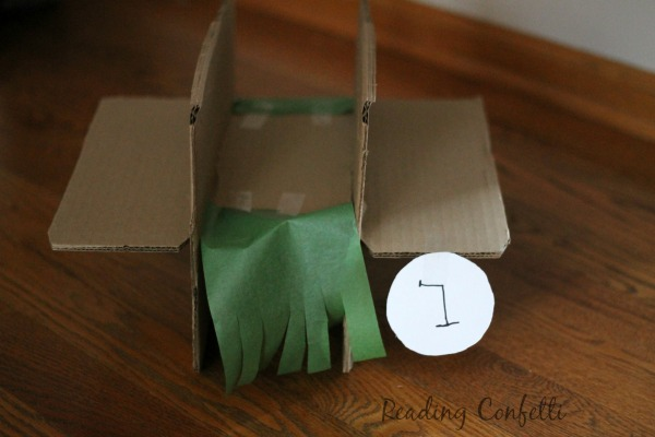 Cardboard Box Miniature Golf Course Reading Confetti