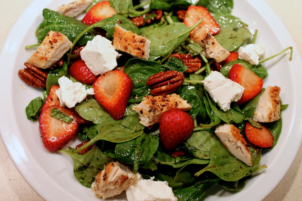 Cook In / Dine Out: Chicken-Strawberry Spinach Salad