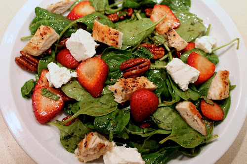Chicken-Strawberry Spinach Salad