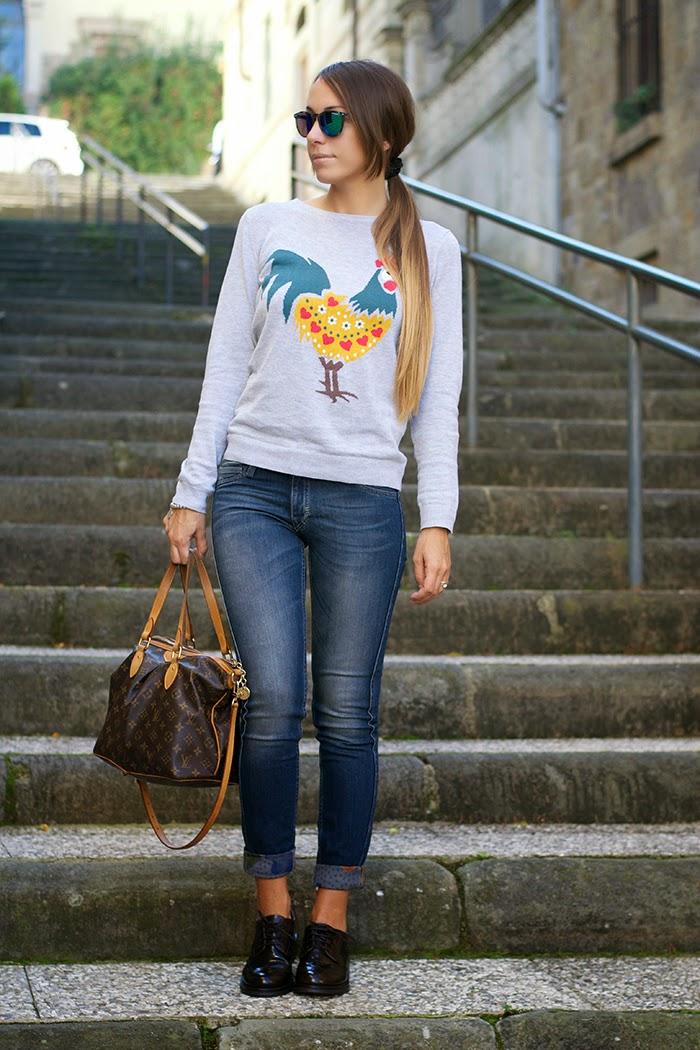 jeans con risvolta