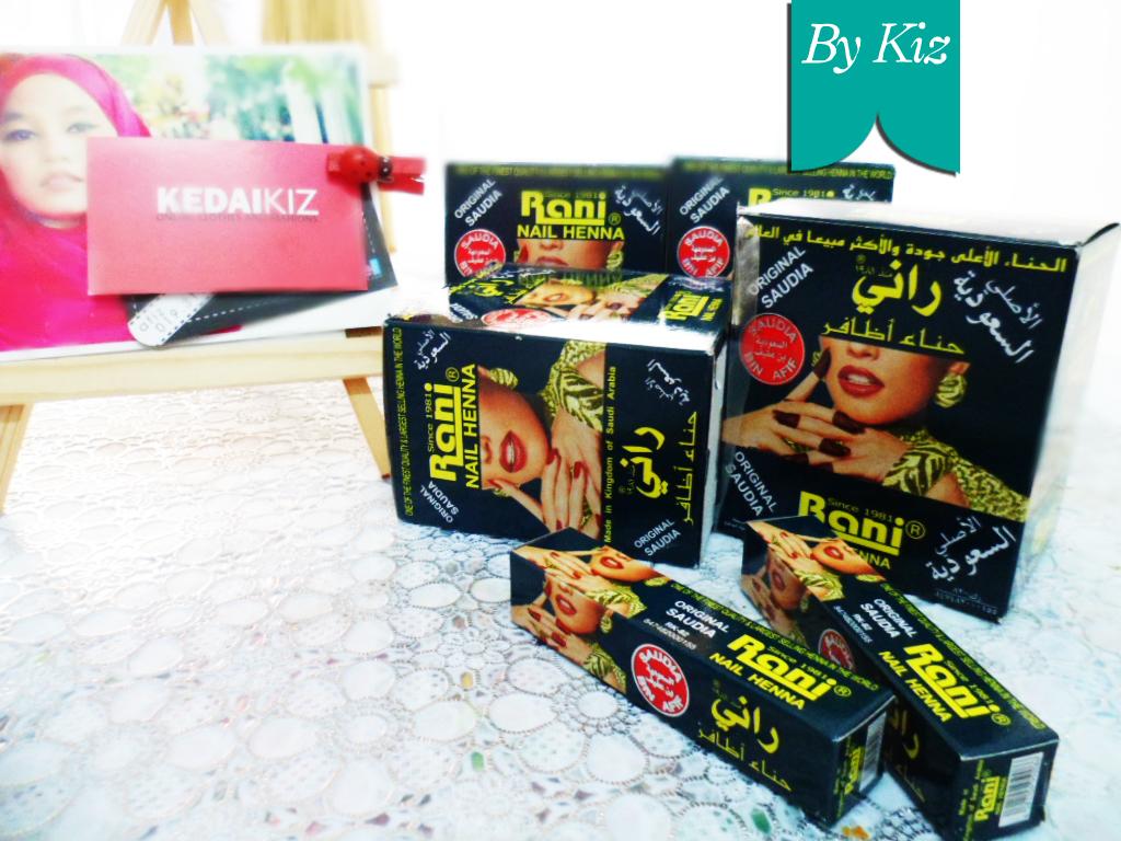 Kiz Wedding Inai Rani Nail Henna Original Saudia