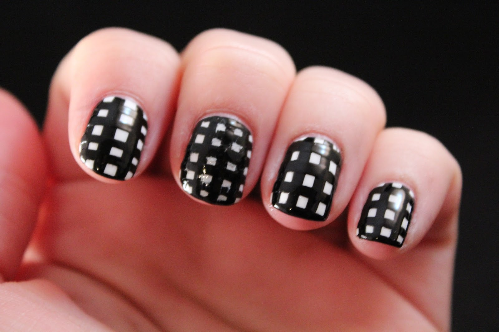 Glimpses Of The Moon Tuesday Tutorial Checkered Nails Two Ways