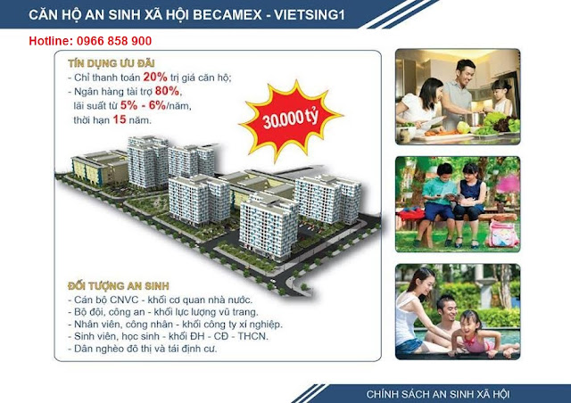 Nhà ở xã hội Becamex tại KDC Việt Sing ảnh 1