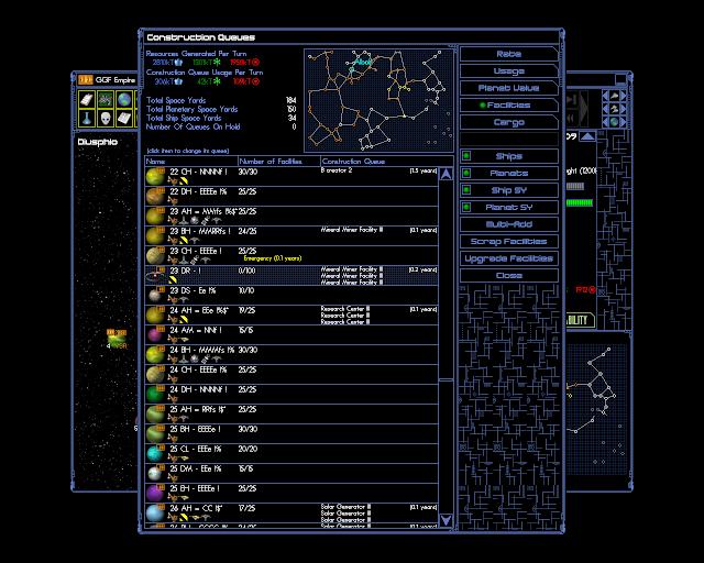 Space Empires 4 - Planet Overview Decription