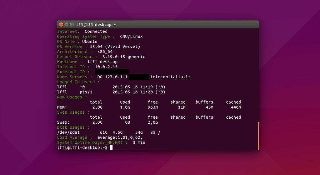 Script Monitor in Ubuntu