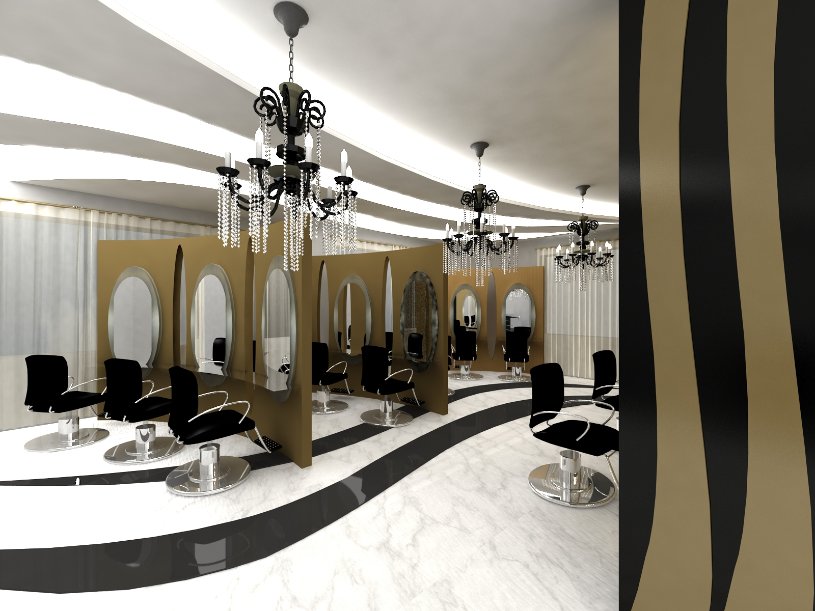 Interior designer beauty center for Interior designer 7