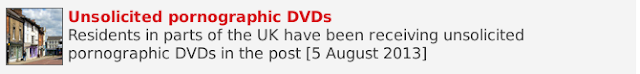Unsolicited pornographic DVDs in the post