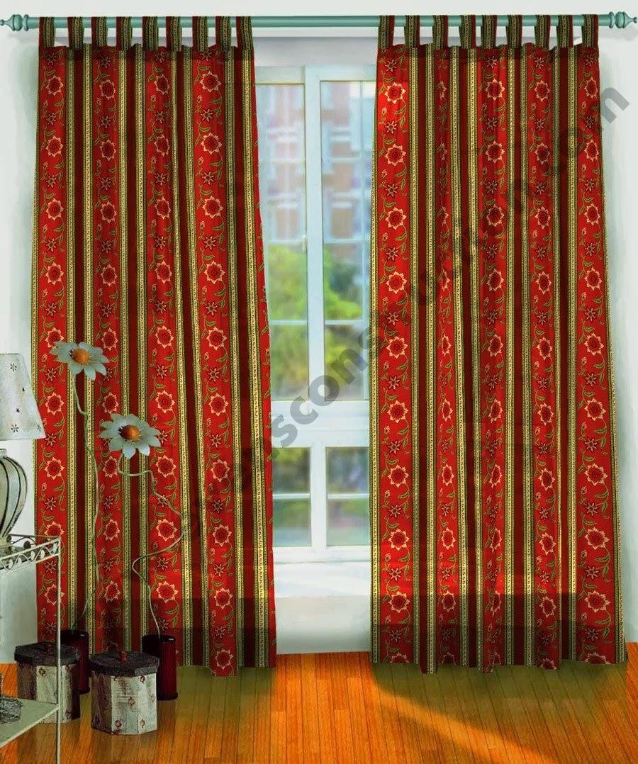 Burgundy valance curtains