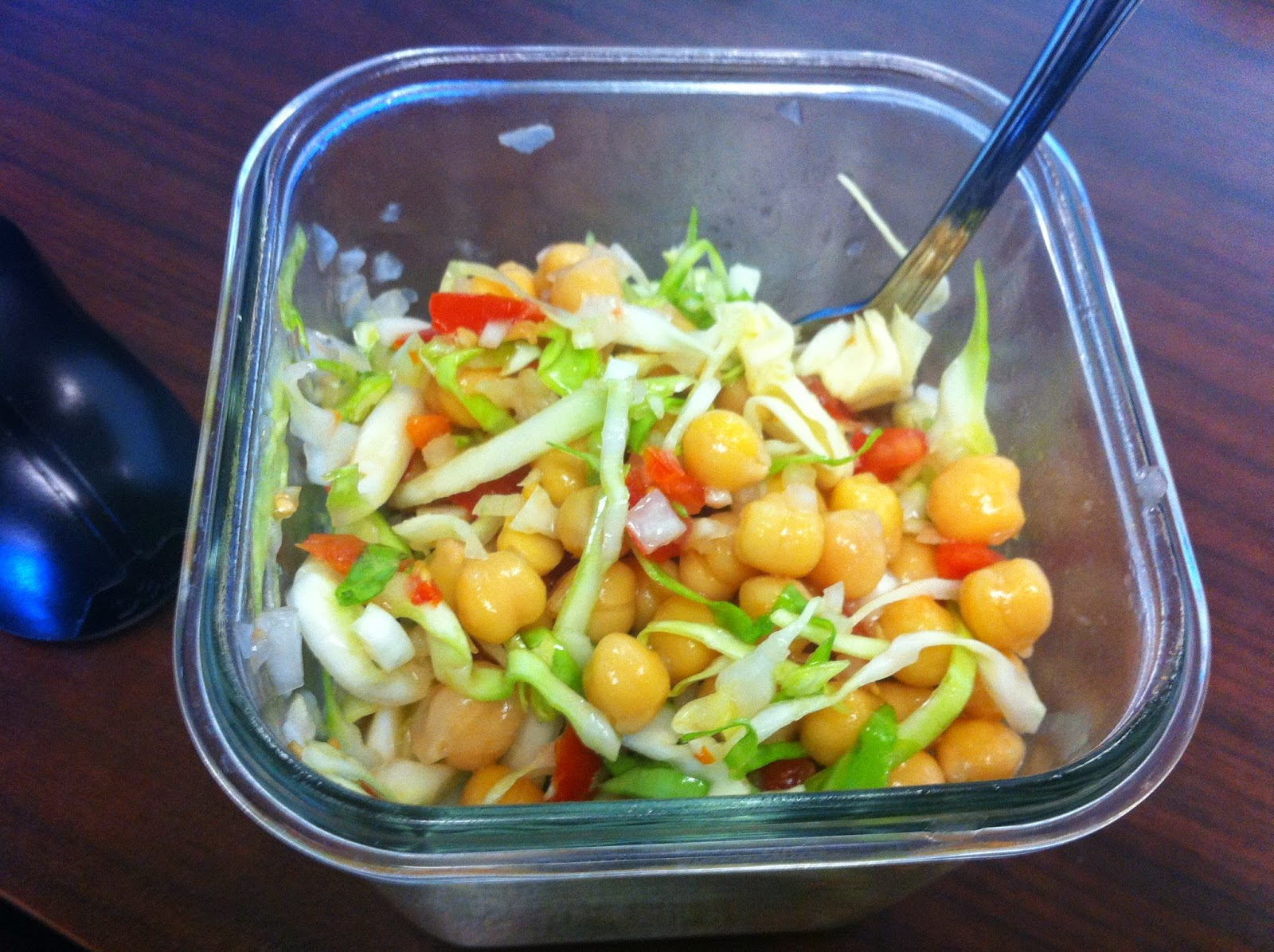 Garbanzo and cabbage salad