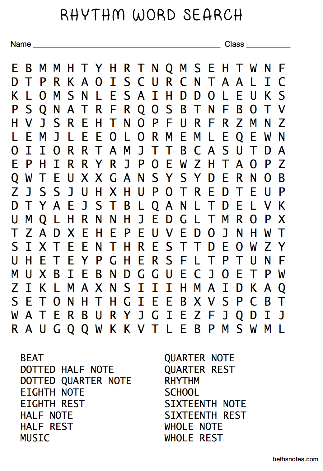 Orchestra Word Search | New Calendar Template Site