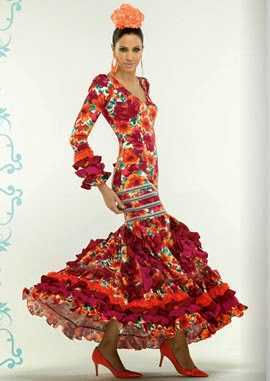 traje de flamenca flores El Corte Inglés 2014