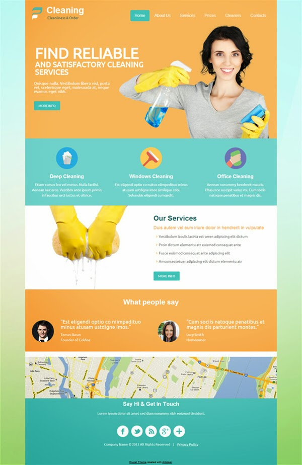 Cleaning - Free Drupal Theme