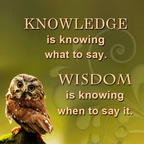 Knowledge & Wisdom Quote