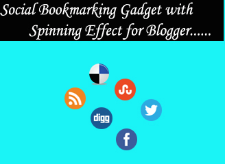 Social Bookmarking Gadget with Spinning Effect for Blogger