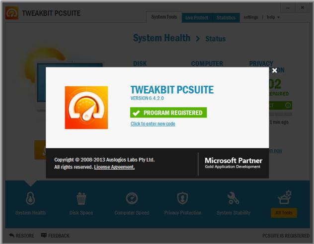 TweakBit PCSuite 6.4.2.0 Full Crack
