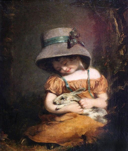 Girl with a Rabbit by John Hoppner, 1800