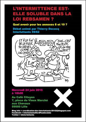 Mercredi 24 juin 2015 à 18h00 au Café Citoyen (7 place du Vieux Marché aux Chevaux - Lille)
