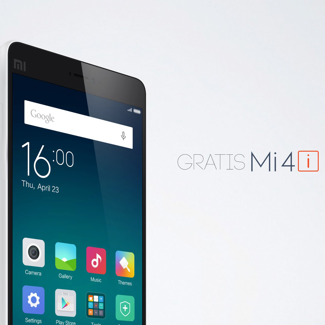 Dapatkan Xiaomi Mi 4i 4G Gratis Dengan Prosesor Octa-Core Disini!