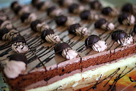 chocolate button slice cake