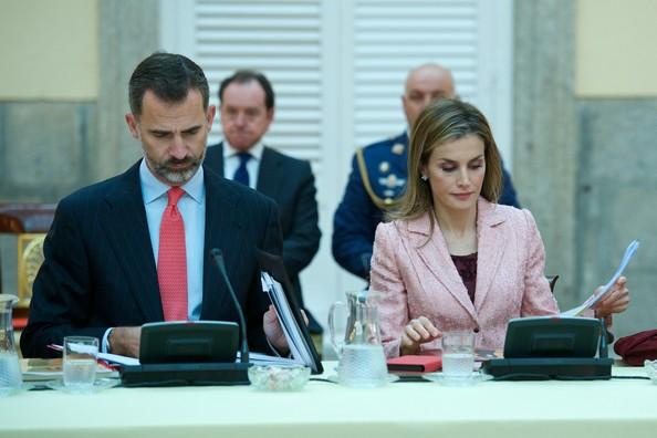 Le roi Felipe et la reine Letizia ont participé à la réunion annuelle avec les directeurs des instituts Cervantes à travers le monde qui avait lieu au palais du Pardo, à Madrid.