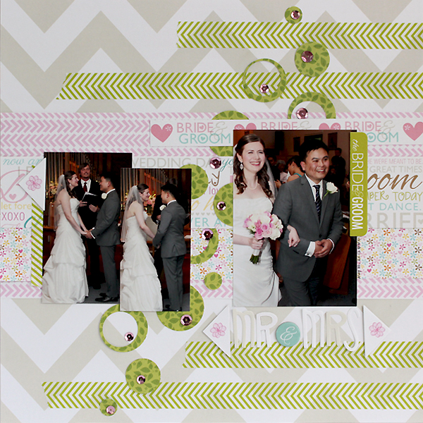 Mr&Mrs Wedding Layout by Juliana Michaels for Bella Blvd