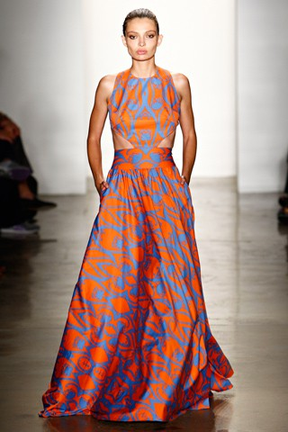 Blue and orange makes what color is the dress