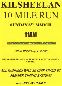 10 mile race nr Clonmel in Tipp - Sun 8th Mar 2020