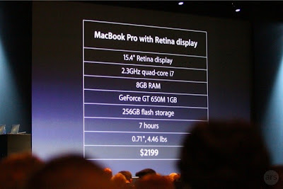 Apple's MacBook Pro WWDC 2012
