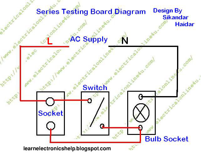 Electrical Series Testing Board Learn Basic Electronics Circuit