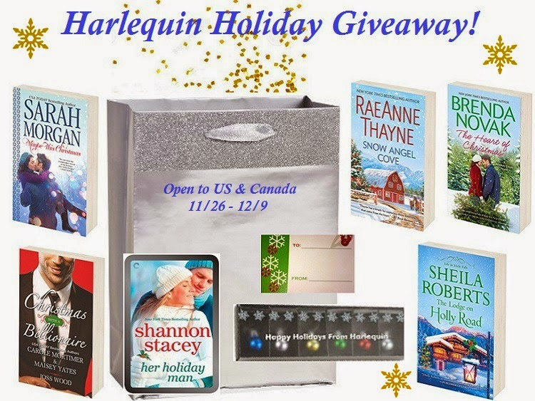 Enter the Harlequin Holiday Giveaway. Ends 12/9.