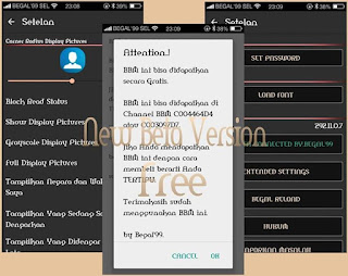 BBM Beta Mod Apk Connected Versi 292.11.0.7 (Dark Theme)