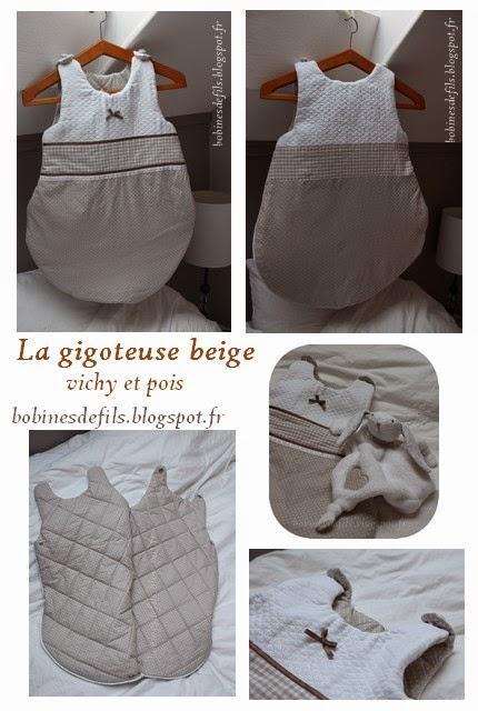 La gigoteuse beige / bobinesdefils.blogspot.fr