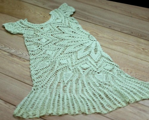 Crochet charm lace dress for summer - Free crochet diagram