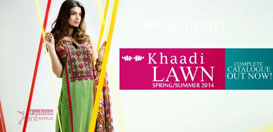 Khaadi Lawn 2014 wwwfashionhuntworldblogspotcom 001 - Khaadi Spring/Summer Lawn Collection 2014