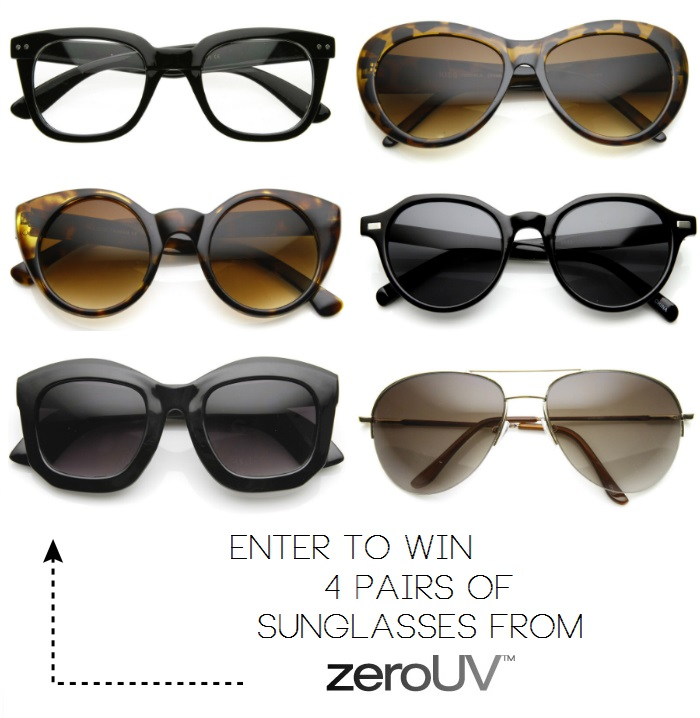 76ffad6454 Giveaway  Win 4 PAIRS of sunglasses from ZeroUV! (CLOSED)