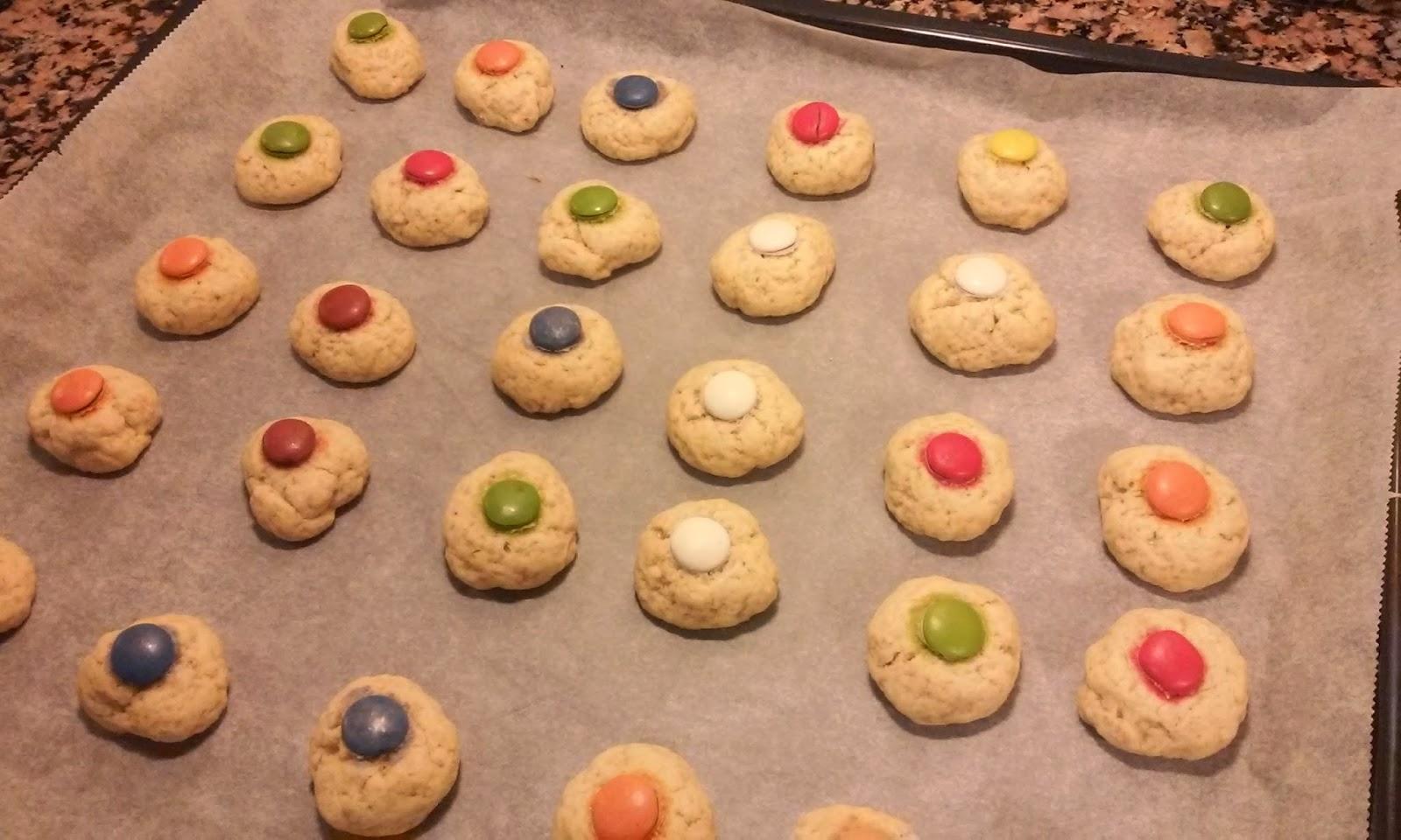 sacamos las galletas del horno
